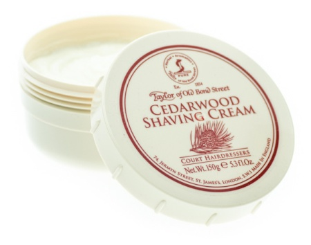 Cedarwood Shaving Cream Bowl in the group Shaving / Cream, soap & lather / Shaving Cream at Sliqhaq AB (01012)