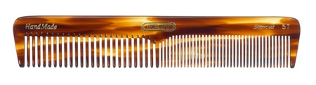 Long Medium Sized Dressing Table Comb Fine/Coarse - 5T in the group Hair Care / Combs / Handmade Combs at Sliqhaq AB (5T)