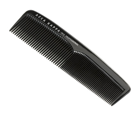 Professional Fine Coarse Pocket Comb With Pouch - 7012 Black in the group Hair Care / Combs / Barber Combs at Sliqhaq AB (AK-127012)